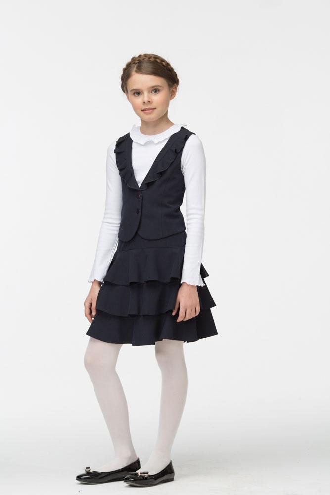 Жилетка юбка комплект